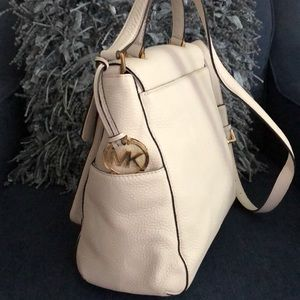 Michael Kors off-white leather purse